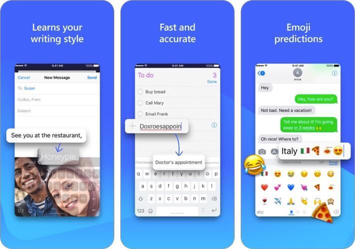 Клавиатура microsoft swiftkey, скриншот приложения для iphone и ipad
