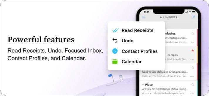 Скриншот приложения электронной почты newton mail для iphone и ipad