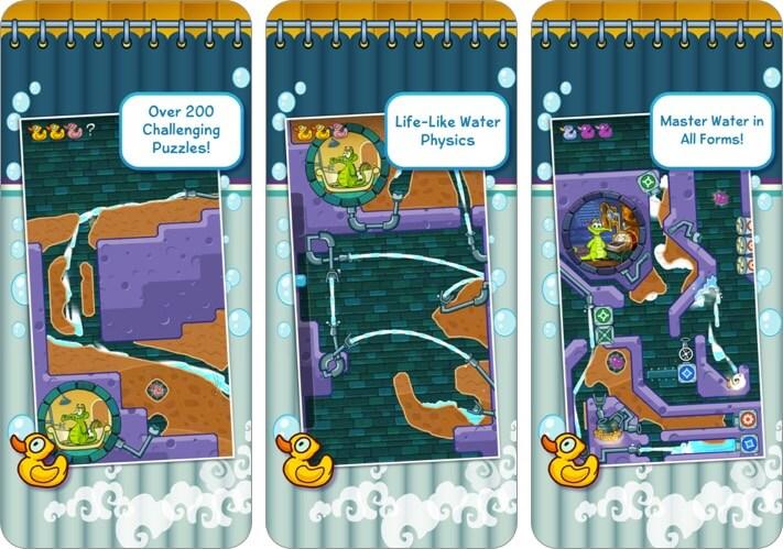 где моя вода? скриншот игры для детей iphone и ipad