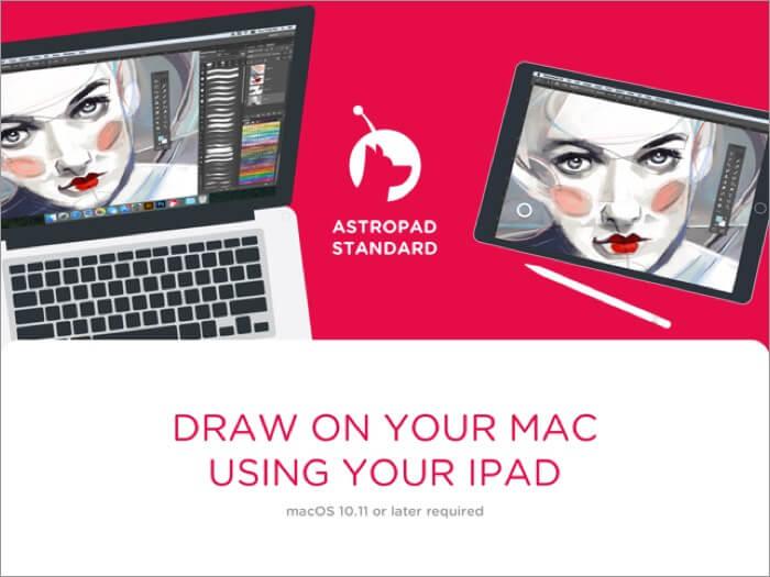 скриншот стандартного приложения для iPad от Astropad