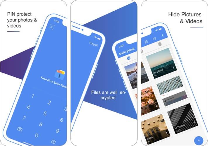galleryvault - скрыть фото видео скриншот приложения хранилища iphone