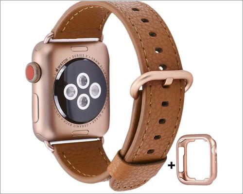 jsgjmy ремешок из натуральной кожи для apple watch series 5