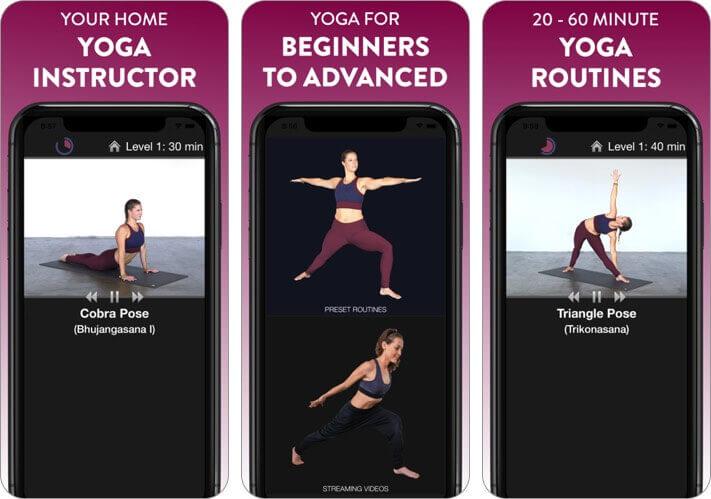 просто йога - домашний инструктор, скриншот приложения для растяжки iphone и ipad