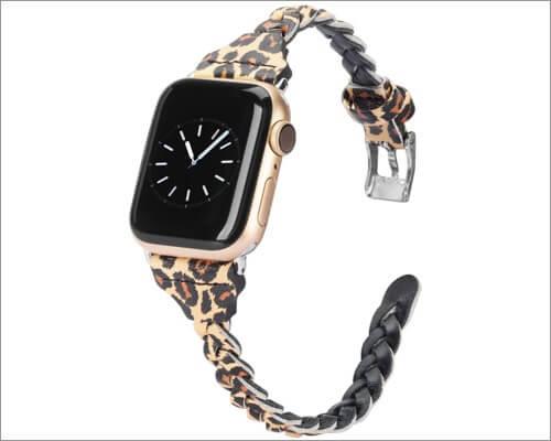 тонкий кожаный ремешок Wearlizer для Apple Watch Series 5