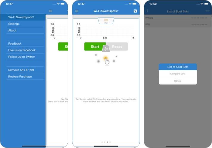 wifi sweetspots iphone и ipad скриншот приложения