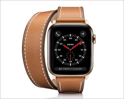 Итальянский кожаный ремешок Casetify 2-в-1 для Apple Watch Series 6, 5, 3 и SE