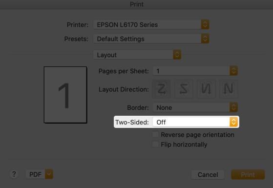 Нажмите Двусторонний раскрывающийся список в файловом приложении на Mac