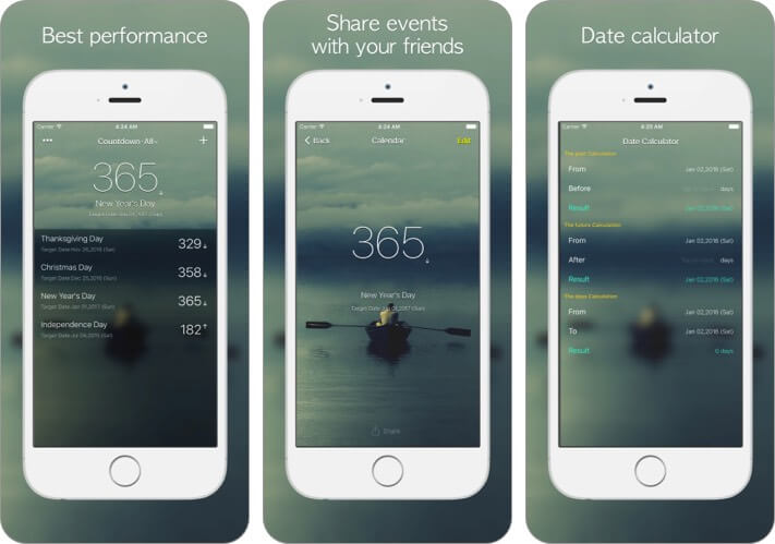 Обратный отсчет ° Скриншот приложения для iOS