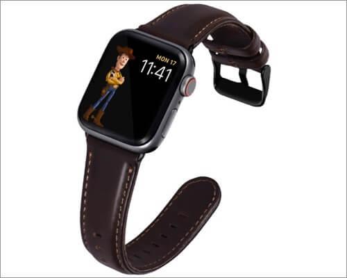 Кожаный ремешок в стиле ретро Kades для Apple Watch Series 6, 5, 3 и SE