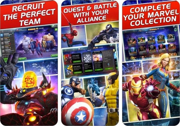 Скриншот игры Marvel: Битва чемпионов для iPhone и iPad