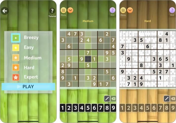 Судоку от Brainium Studios LLC Скриншот игры для iPhone и iPad