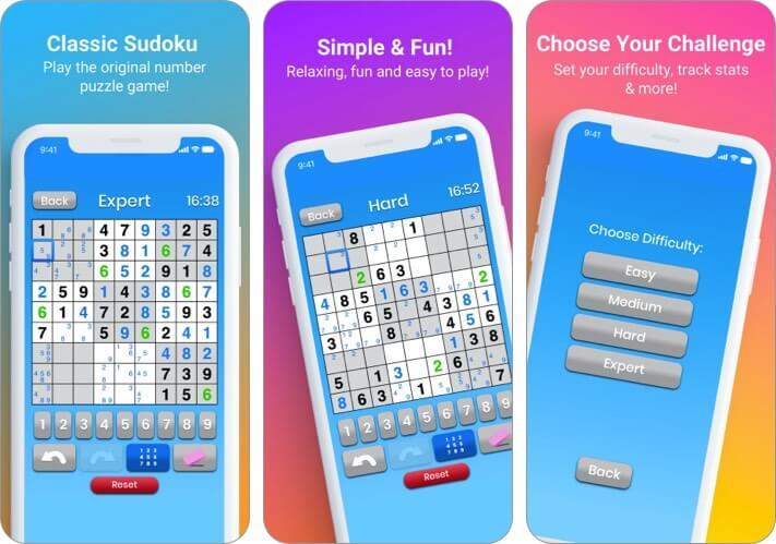 Sudoku von Maple Media iPhone und iPad Spiel Screenshot
