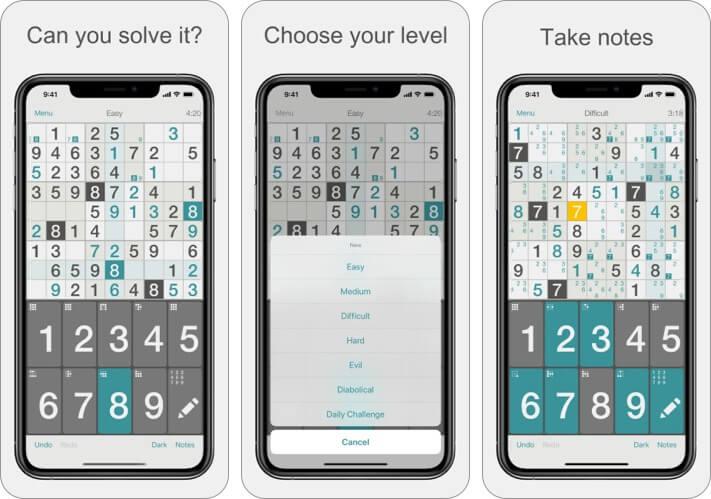 Sudoku von Mind The Frog Screenshot des iPhone- und iPad-Spiels