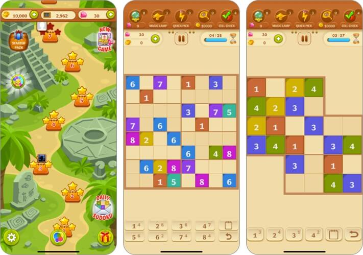 Sudoku Quest Color Soduku Game Скриншот игры для iPhone и iPad