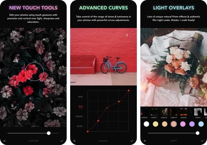 Afterlight RAW Photo Editing Скриншот приложения для iPhone и iPad