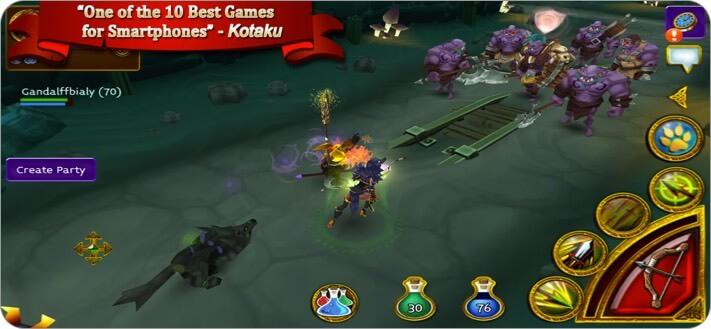 Скриншот игры MMORPG Arcane Legends для iPhone и iPad