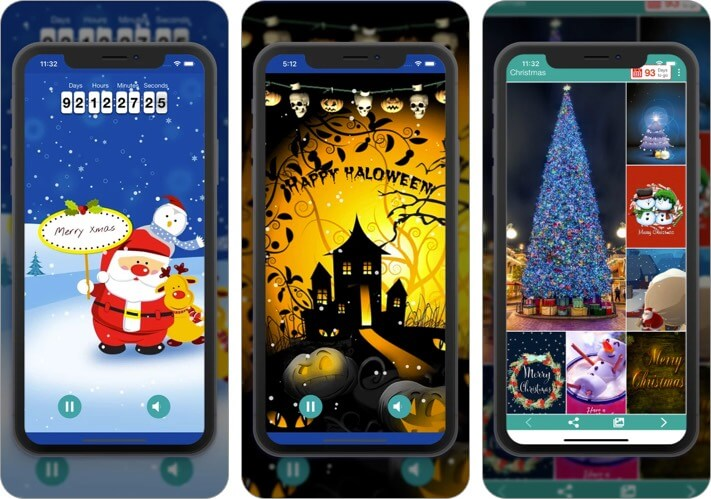 Рождество HD обои iPhone и iPad Скриншот приложения