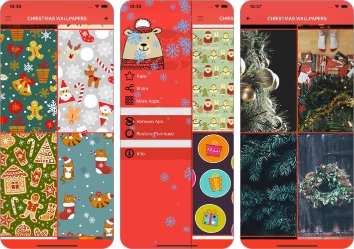 Рождественские обои и фото Скриншот приложения для iPhone и iPad