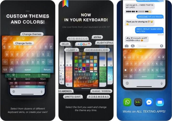 Скриншот приложения Cool Fonts для iPhone