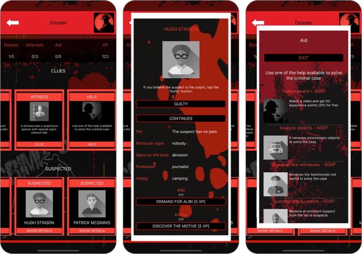 Детективные игры: уголовное дело Скриншот приложения для iPhone и iPad