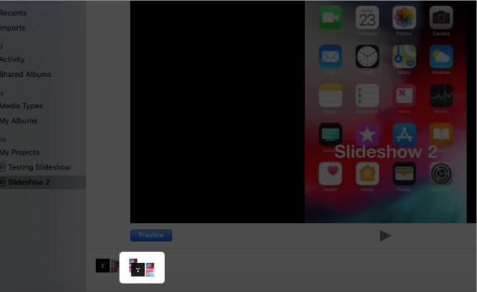 Перетащите слайд, чтобы упорядочить фотографии в слайд-шоу на Mac