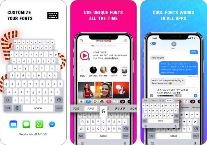 Скриншот приложения Font iPhone