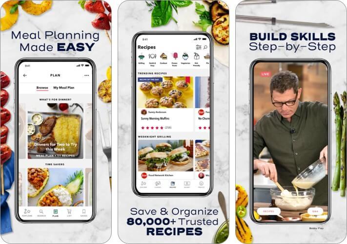 Скриншот приложения Food Network Kitchen для iPhone и iPad
