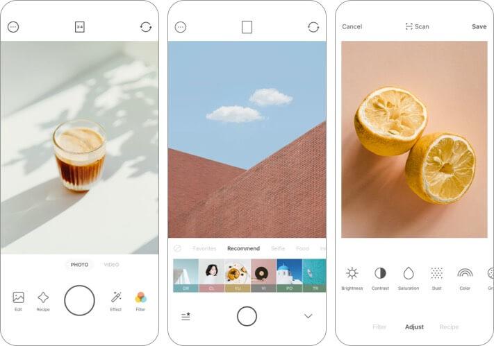 Foodie - Камера для жизни iPhone и iPad Скриншот приложения Food Photography