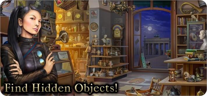 Скриншот детективной игры «Тайное общество поиска предметов» для iPhone и iPad