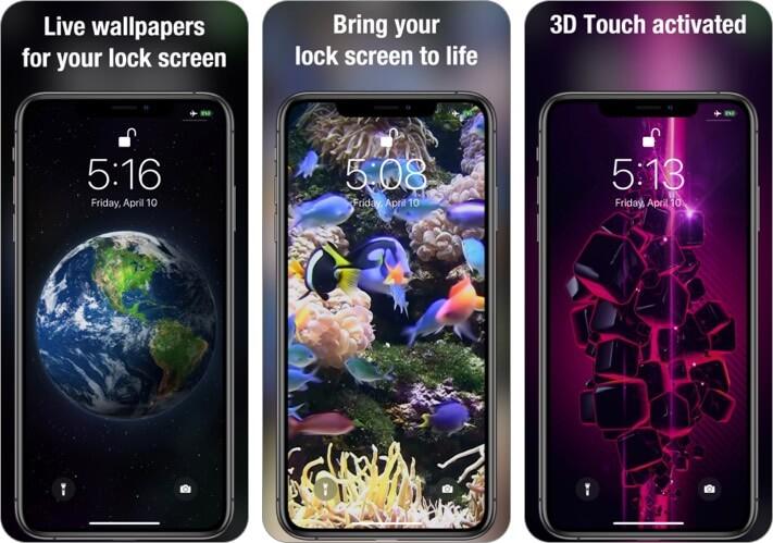 Живые обои Скриншот приложения для iPhone и iPad