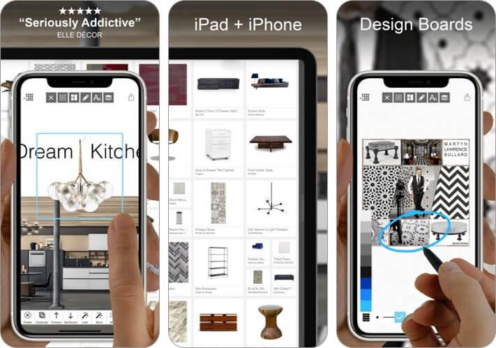 Скриншот приложения для дизайна интерьера Morpholio Board для iPhone и iPad