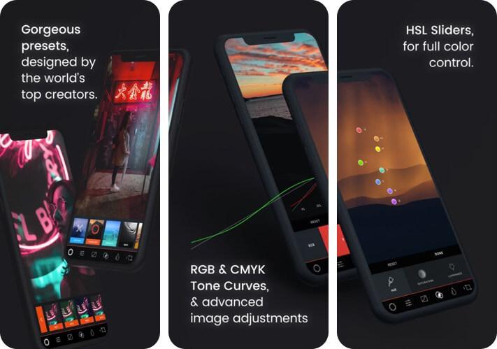 MuseCam RAW Photo Editing Скриншот приложения для iPhone и iPad