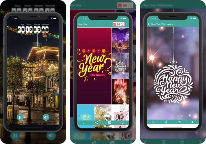Новогодние HD-обои Приложение для iPhone и iPad Скриншот