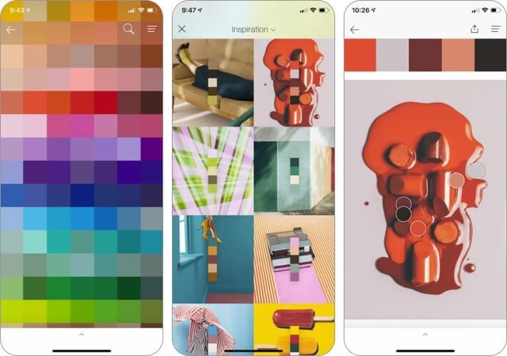Снимок экрана приложения PANTONE Studio для дизайна интерьера iPhone и iPad