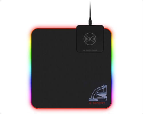 Коврик для мыши с беспроводным зарядным устройством Signo
