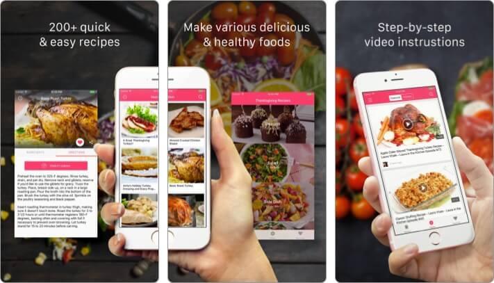 Рецепты на День Благодарения Скриншот приложения для iPhone и iPad