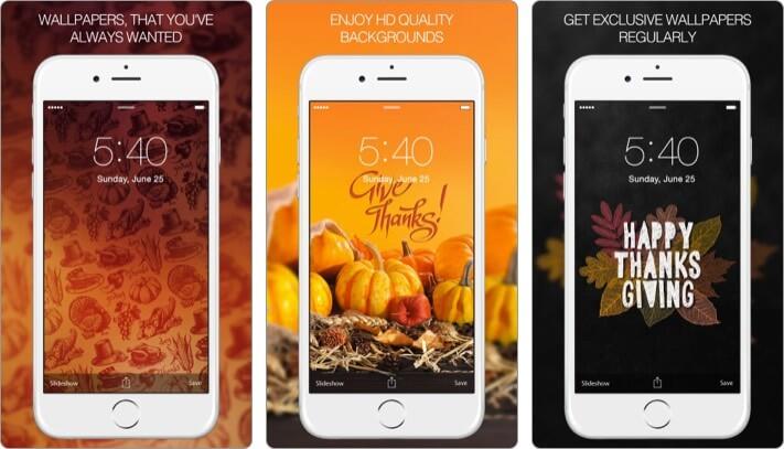 Обои на День благодарения Скриншот приложения для iPhone и iPad