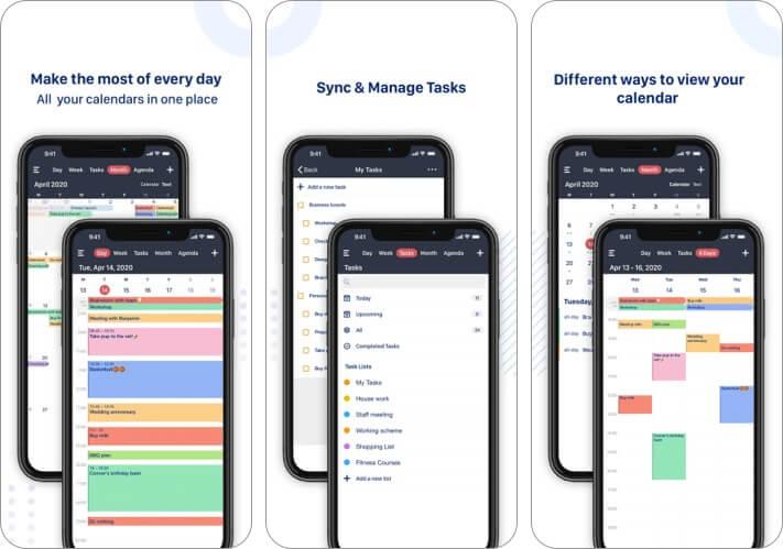 Скриншот приложения Tiny Calendar для iPhone и iPad