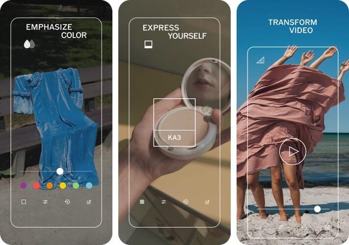 Скриншот приложения для редактирования фотографий VSCO RAW для iPhone и iPad