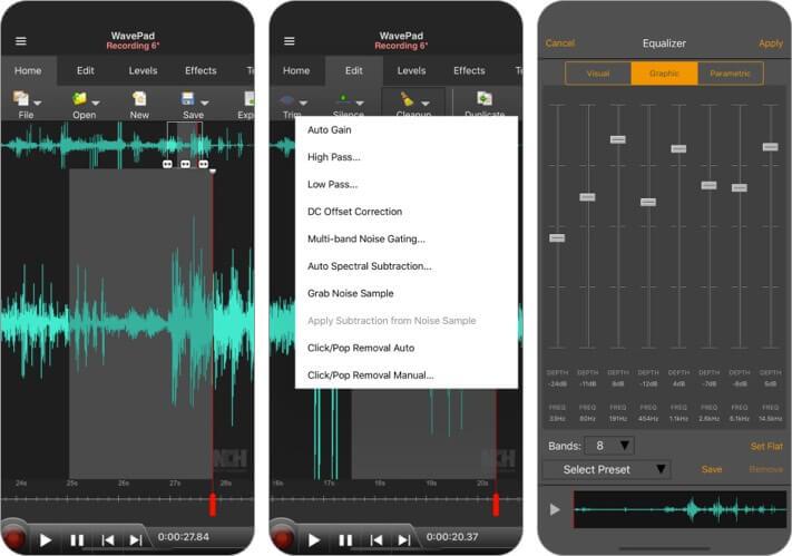 WavePad Music and Audio Editor Скриншот приложения для iPhone и iPad