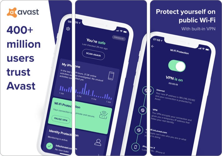 Скриншот приложения Avast Security Privacy для iPhone и iPad