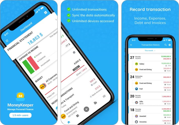 Приложение MISA MoneyKeeper Expense Tracker для iPhone и iPad Скриншот