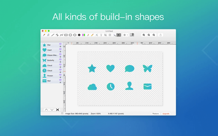 Приложение для редактирования фотографий Paint S для Mac Скриншот