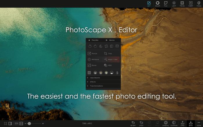 PhotoScape X Photo Editing App для Mac Скриншот
