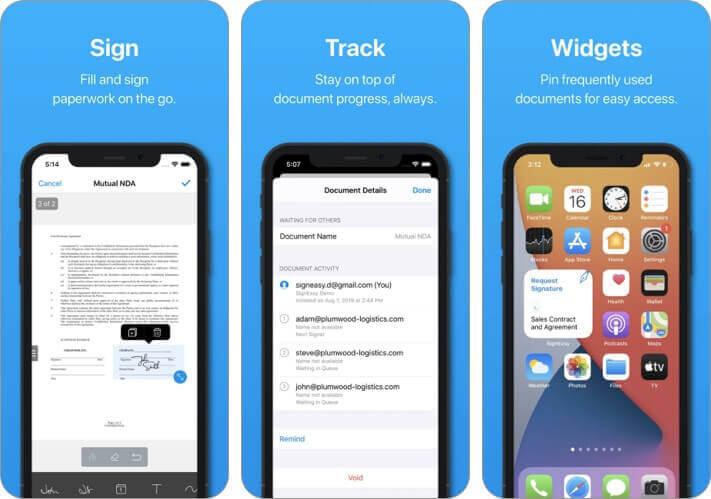Signeasy подписать и заполнить документы Приложение для iPhone и iPad Скриншот
