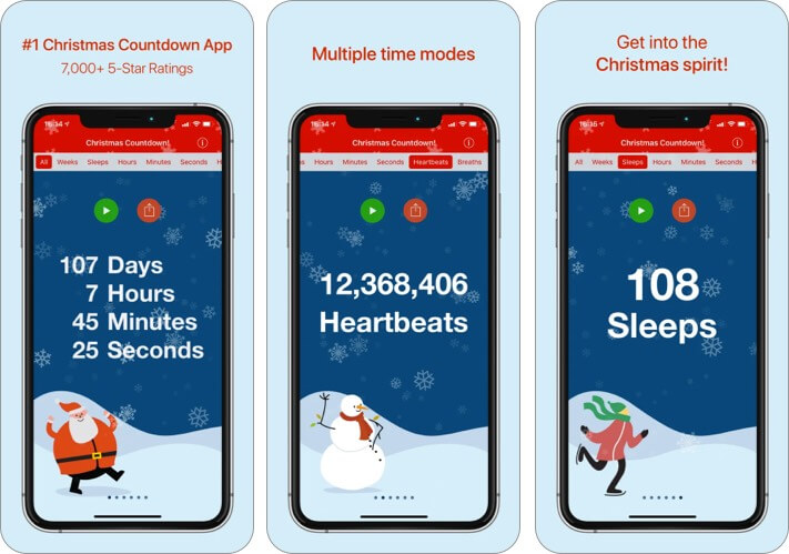 Скриншот приложения для iPhone и iPad до Рождества