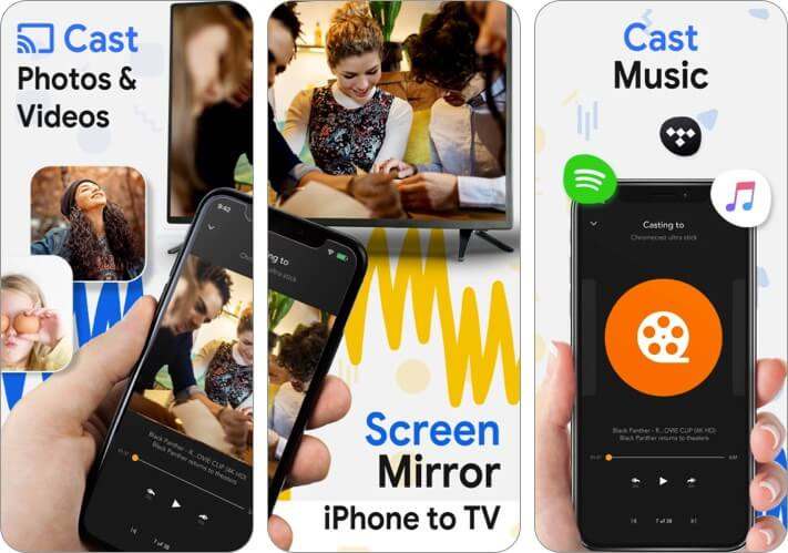 Скриншот приложения Chromecast Streamer Screen Mirroring для iPhone и iPad