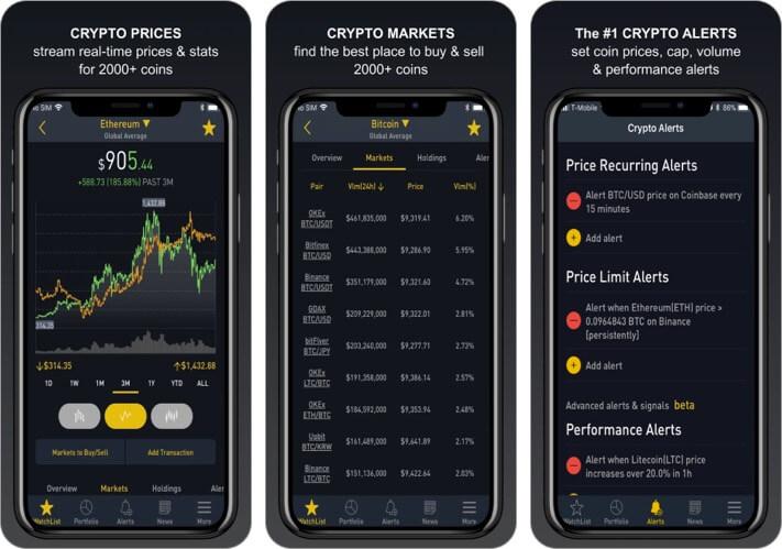 Crypto Tracker Скриншот приложения для iPhone и iPad для криптовалюты