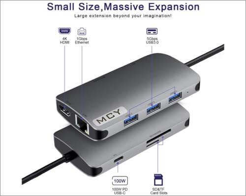 Адаптер-концентратор MCY 8-in-1 Type c для MacBook