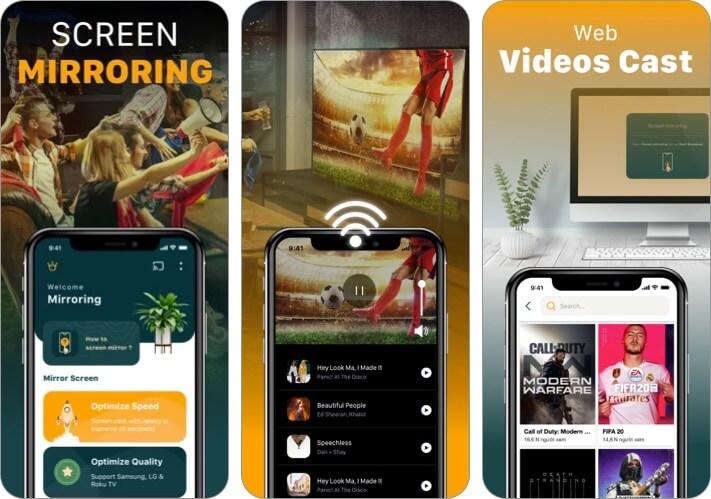 Screen Mirroring TV Cast iPhone и iPad Скриншот приложения